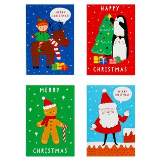 Kids Christmas cards cube - pack of 32 main image