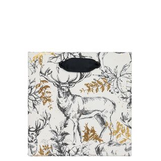 Gold foil stags small gift bag main image