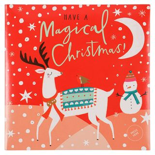 Musical reindeer and friends Christmas card main image