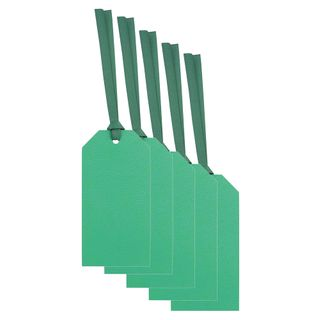 Green micro foil luggage gift tags - pack of 10 main image