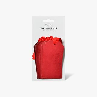 Red micro foil luggage gift tags - pack of 10 main image