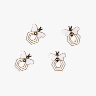 Bee metal paper clips - pack of 4  main image