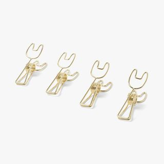 Gold Bunny Binder Clips - Pack of 4 main image