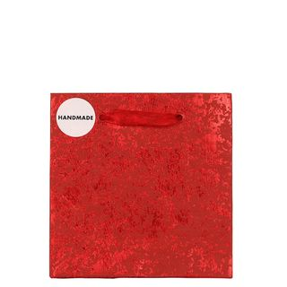 Red foil crackle small gift bag main image