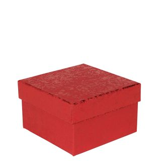 Red foil crackle small gift box main image