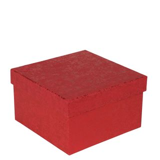 Red crackle large gift box main image