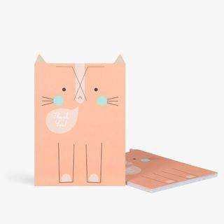 Tabby cat thank you notecards - pack of 10  main image