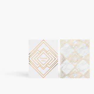 Marble deco thank you notecards - pack of 12 main image