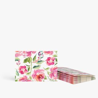 Painterly floral notecards - pack of 10  main image