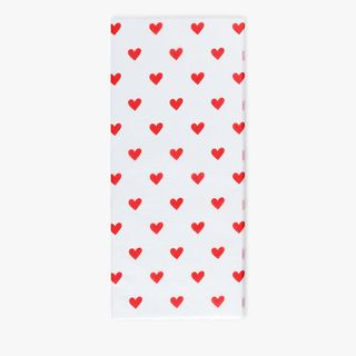 Red heart tissue paper - 3 sheets  main image