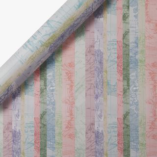 Striped Map Wrapping Paper - 3m main image