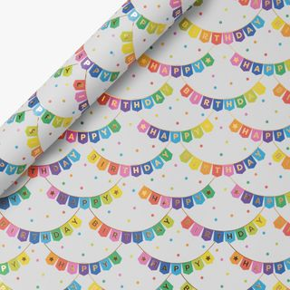 Birthday Bunting Wrapping Paper - 3m  main image