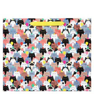Party cats large gift bag  main image