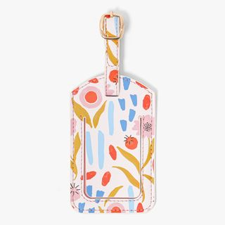 Pink Floral Luggage Tag  main image