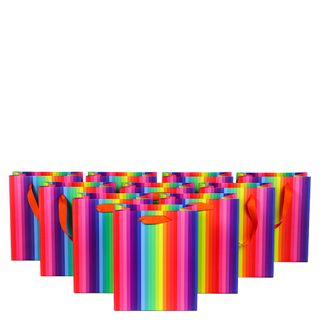 Rainbow medium gift bags with tags - 10 pack  main image