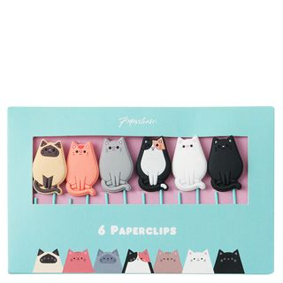 Silicone Cat Paper Clips - Pack of 6  main image
