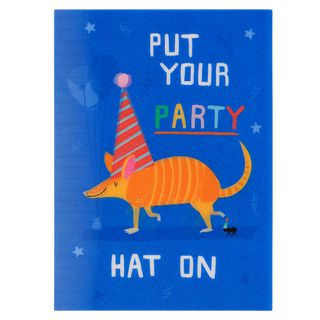Put your party hat on birthday card main image
