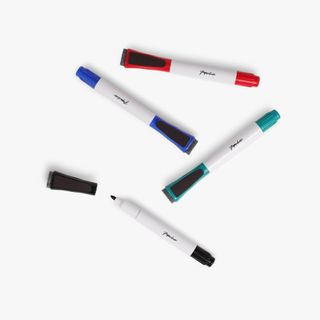 Whiteboard markers with erasers - pack of 4 main image