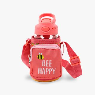 Bee Happy Water Bottle with Sleeve  main image