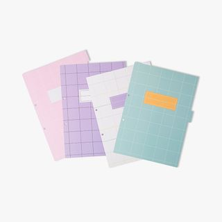 8-Part A4 Pastel Subject Dividers  main image
