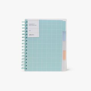 A5 Frosted Subject Notebook  main image