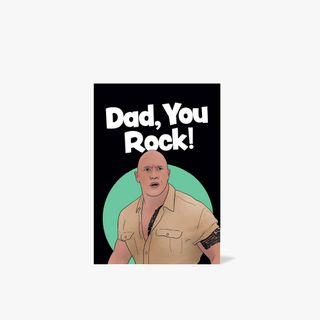 Dad you rock Father's Day card  main image