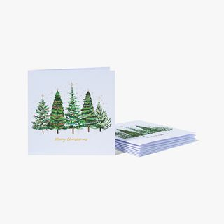 Brush Christmas Trees Charity Cards - Pack of 8  main image