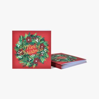 Christmas Wreath Charity Cards - Pack of 8  main image