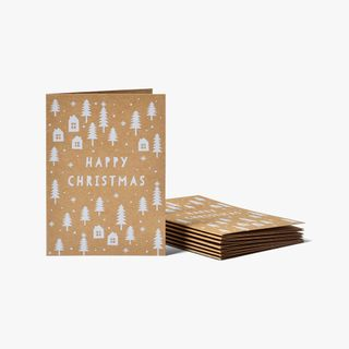 White Trees & House Kraft Cards - Pack of 8  main image