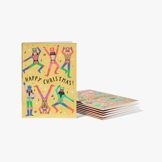 Nutcrackers On Gold Cards - Pack of 8  main image