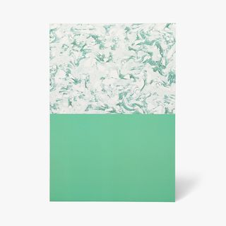 A4 Block Marble Mint Notebook  main image