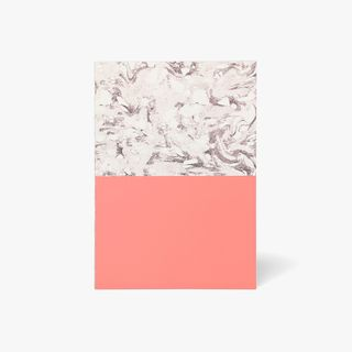 A5 Block Marble Pink Notebook  main image