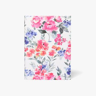 A5 Pink Floral Linen Notebook  main image