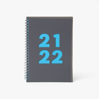 A5 Wiro Blue Mid-Year Diary main image