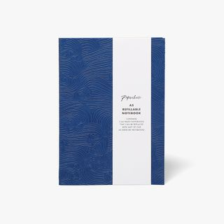 A5 Refillable Notebook in Blue Waves  main image