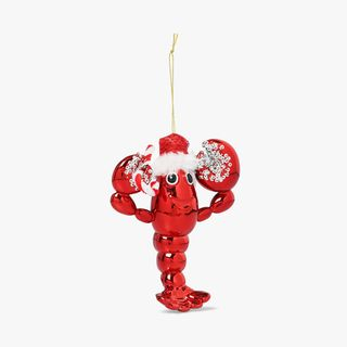 Lobster With Hat Hanging Tree Decoration  main image
