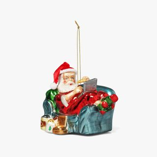 Work From Home Santa Hanging Tree Decoration  main image