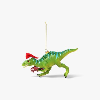 Dino with Candy Cane Hanging Tree Decoration  main image