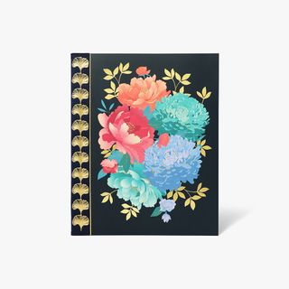 8x10 Midnight Flora Dotted Notebook  main image