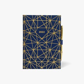 A5 Gold Geo WTV Diary With Pen 2022 main image