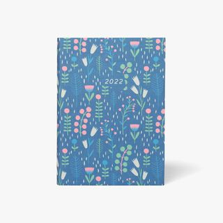 A5 Linen Winter Floral DTV Diary 2022 main image