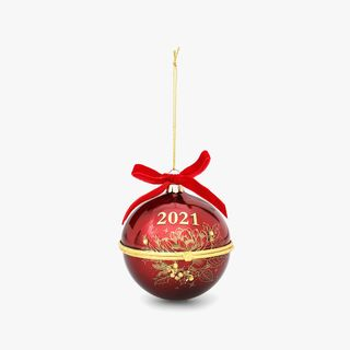 Red and Gold 2021 Resolution Bauble  main image