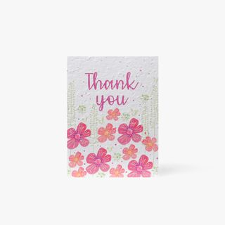 Floral Seed Thank You Card  main image