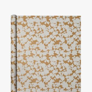 Kraft White Floral Wrapping Paper - 3m  main image