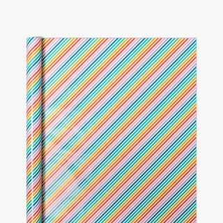 Rainbow Stripe Wrapping Paper - 10m main image