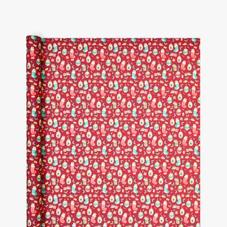 Christmas Hedgehog Wrapping Paper - 3m main image