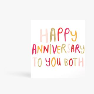 Happy Anniversary To You Both Card  main image