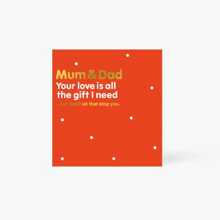 Mum Dad Love Is All The Gift Card main image
