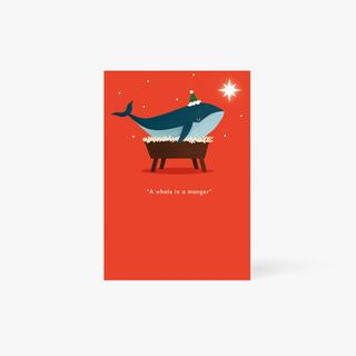 A Whale In A Manger Card main image