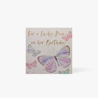 For a lovely mum butterflies birthday card main image